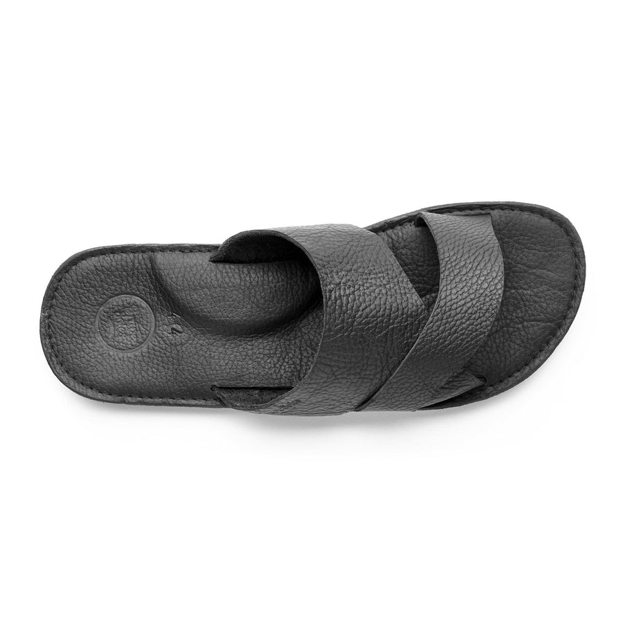 Mens leather slide sandal