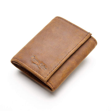 The edwin men fold wallet is made from a crafty combination of leather and recycled tire inner tubes.