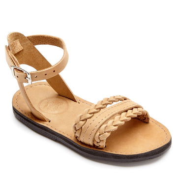Classic girls leather sandals