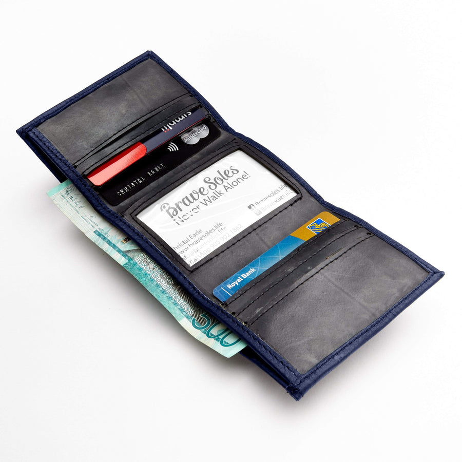 The edwin men wallet hancrafted mix of recycled leather and tire inner tubes