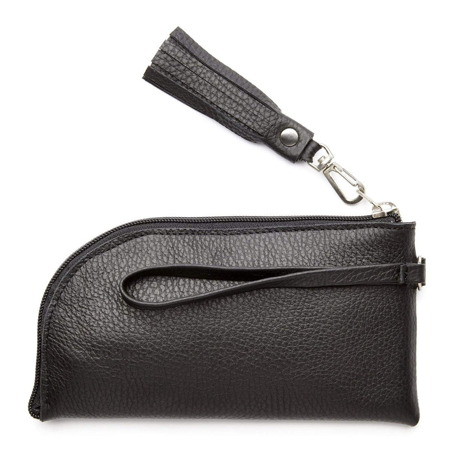 The Felicity Wallet Clutch is a pretty and practical combination of leather and recycled inner tube