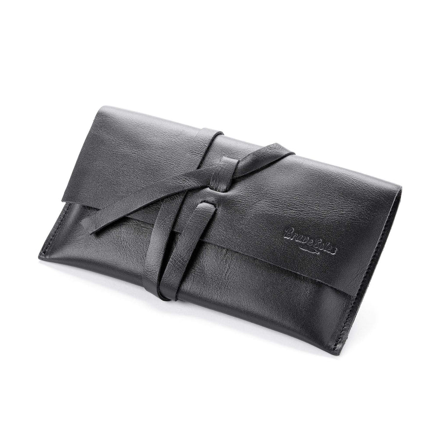 Eco conscious leather travel wallet clutch