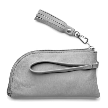 The Felicity Wallet Clutch is a pretty and practical combination of leather and recycled inner tube.