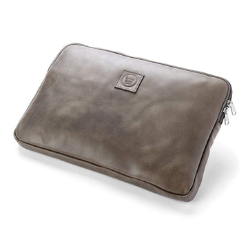 The Simpatico leather laptop case is going to protect your laptop in style. However, it also has a fun story when you open it up.