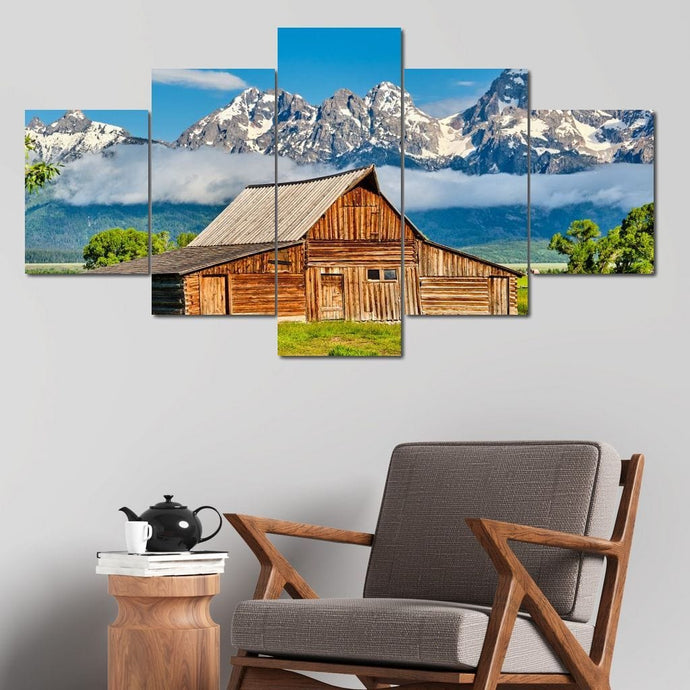 The Old Barn Multi Panel Canvas Wall Art - NicheCanvas