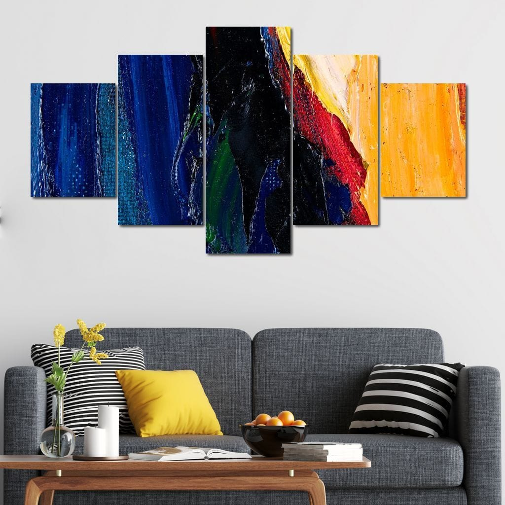 Abstract Fragment Multi Panel Canvas Wall Art - NicheCanvas