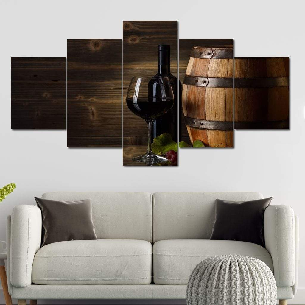 Limited Edition - Wine Wall Art 8 Multi Panel Canvas Wall Art - NicheCanvas