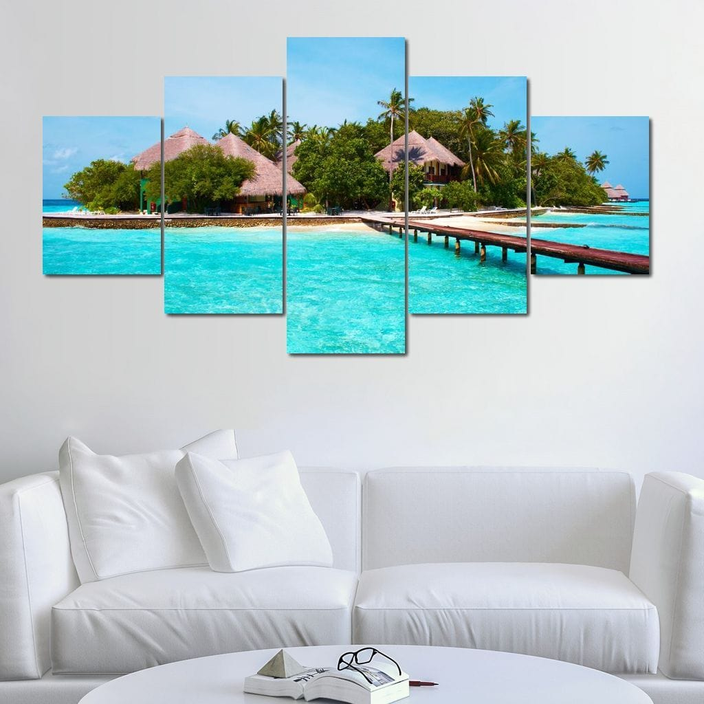 Vacation in Paradise Multi Panel Canvas Wall Art - NicheCanvas