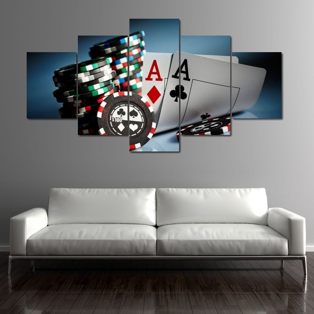Gamblers Luck Multi Panel Canvas Wall Art - NicheCanvas