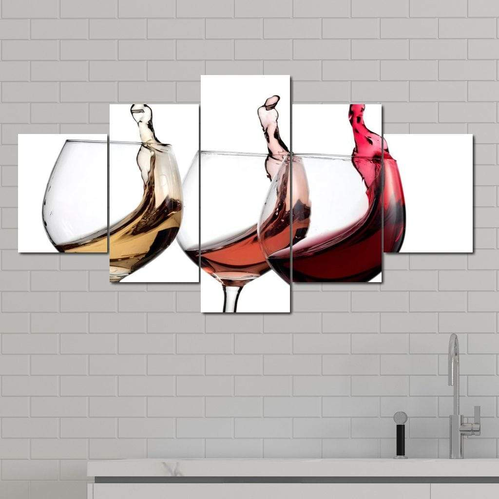 Wine Wall Art 2 Multi Panel Canvas Wall Art - NicheCanvas