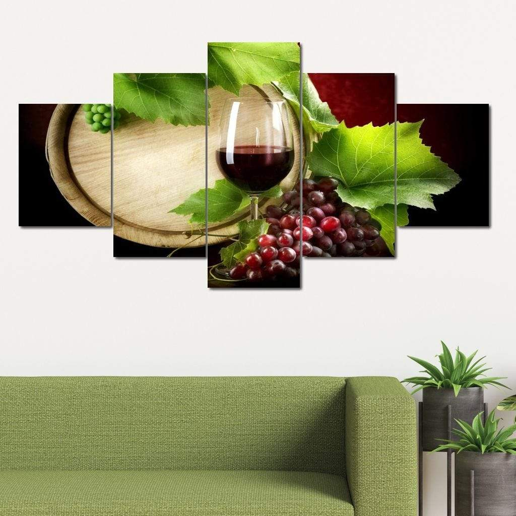 Limited Edition - Wine Wall Art 30 Multi Panel Canvas Wall Art - NicheCanvas