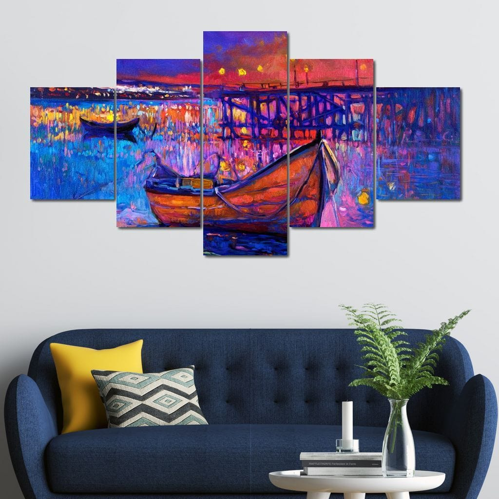 Garry's Boat Multi Panel Canvas Wall Art - NicheCanvas