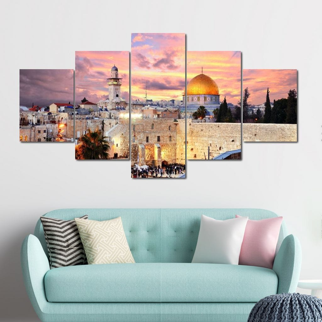 Jerusalem Temple Mount Multi Panel Canvas Wall Art - NicheCanvas