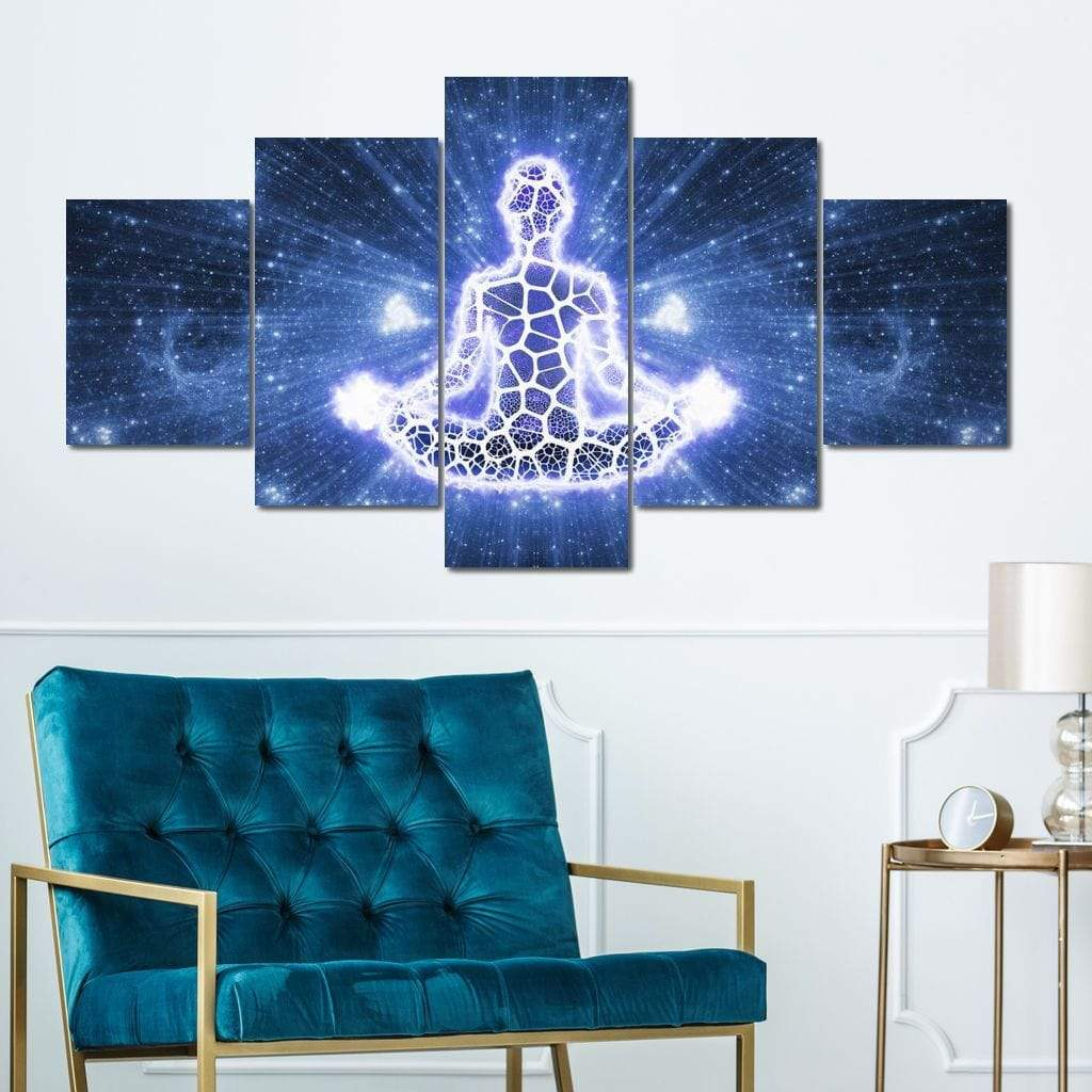 Meditation Multi Panel Canvas Wall Art - NicheCanvas