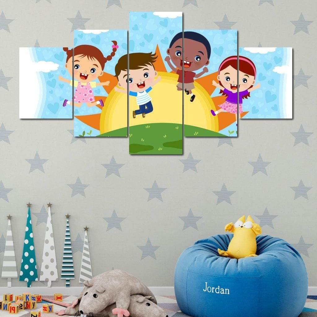 Friends Under the Sun Multi Panel Canvas Wall Art - NicheCanvas