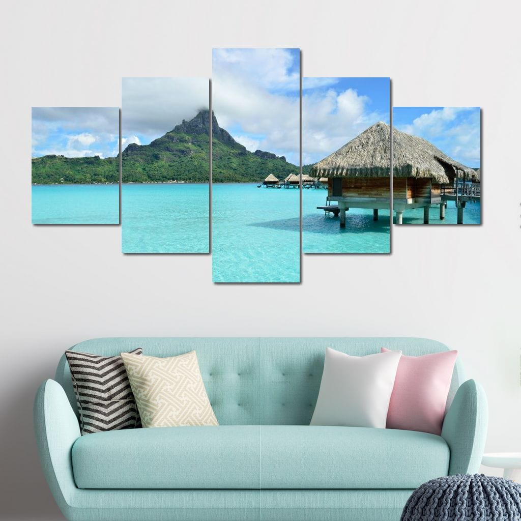 Close to Paradise Multi Panel Canvas Wall Art - NicheCanvas