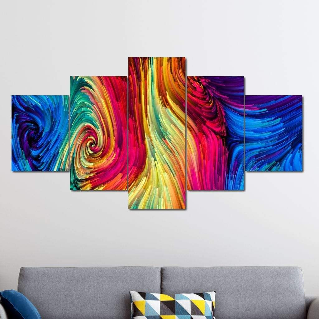 Color Metaphor Multi Panel Canvas Wall Art - NicheCanvas