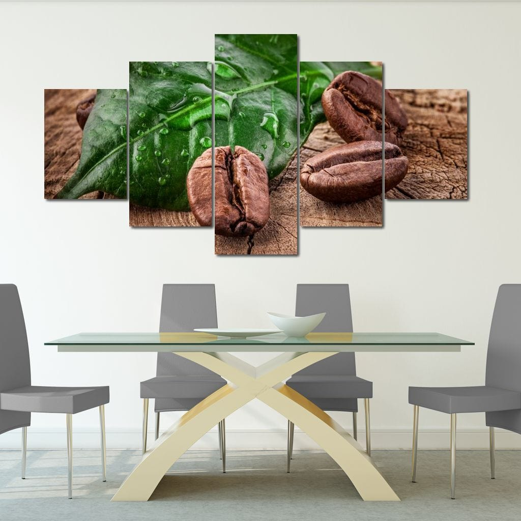 Costa Rican Coffee Multi Panel Canvas Wall Art - NicheCanvas