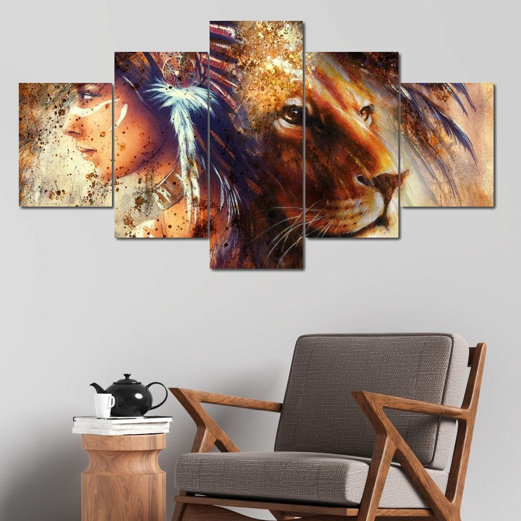 Spirit Animal Multi Panel Canvas Wall Art - NicheCanvas