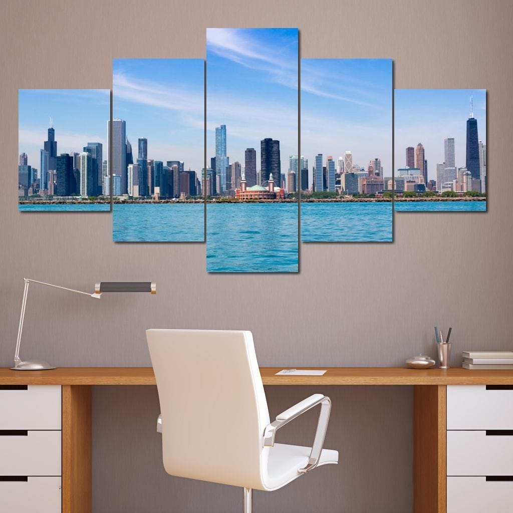 Attractive Chicago Multi Panel Canvas Wall Art - NicheCanvas