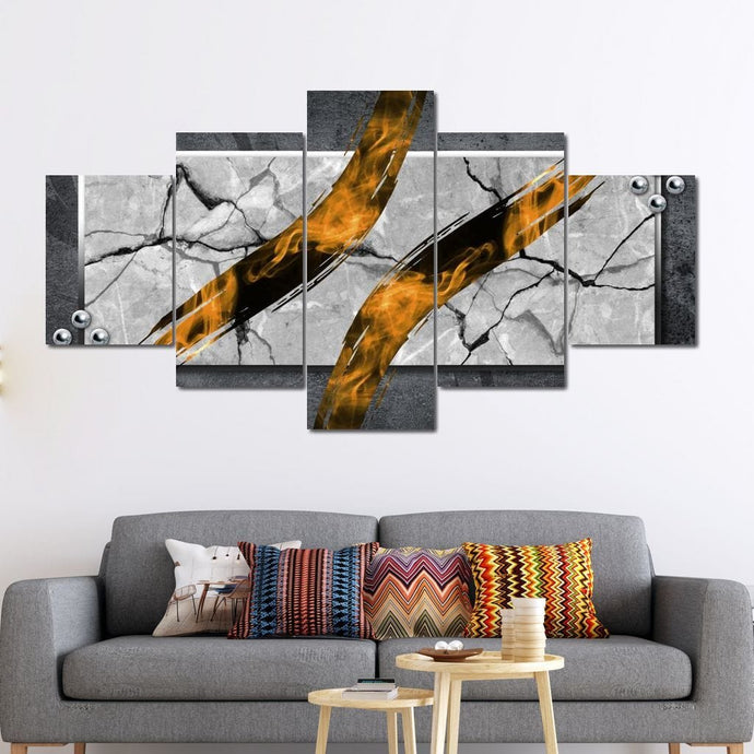 Abstract Orange - Mateusz - NicheCanvas