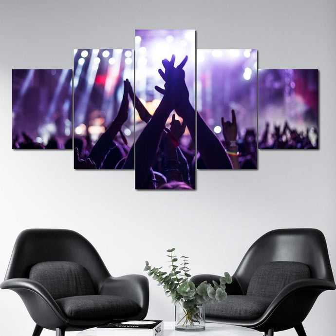 The Live Show Multi Panel Canvas Wall Art - NicheCanvas