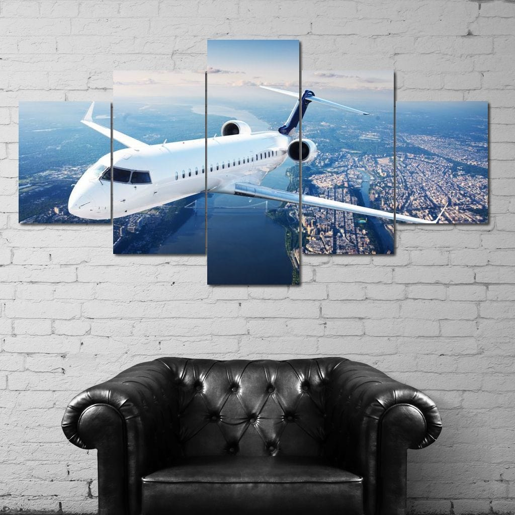 Flying Out Multi Panel Canvas Wall Art - NicheCanvas