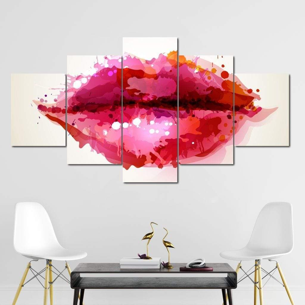 Sexy Lips Multi Panel Canvas Wall Art - NicheCanvas