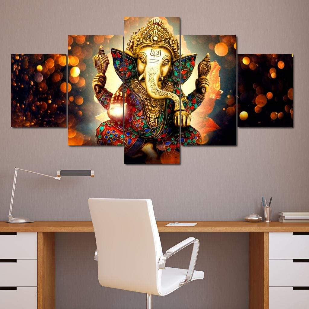 The Hindu God Ganesh - Limited Edition Large Canvas