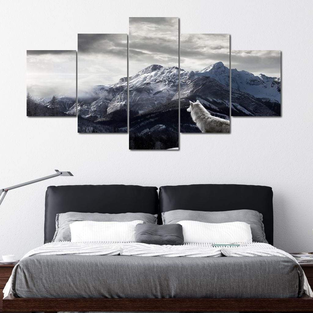 The King Of The Mountain Multi Panel Canvas Wall Art - NicheCanvas