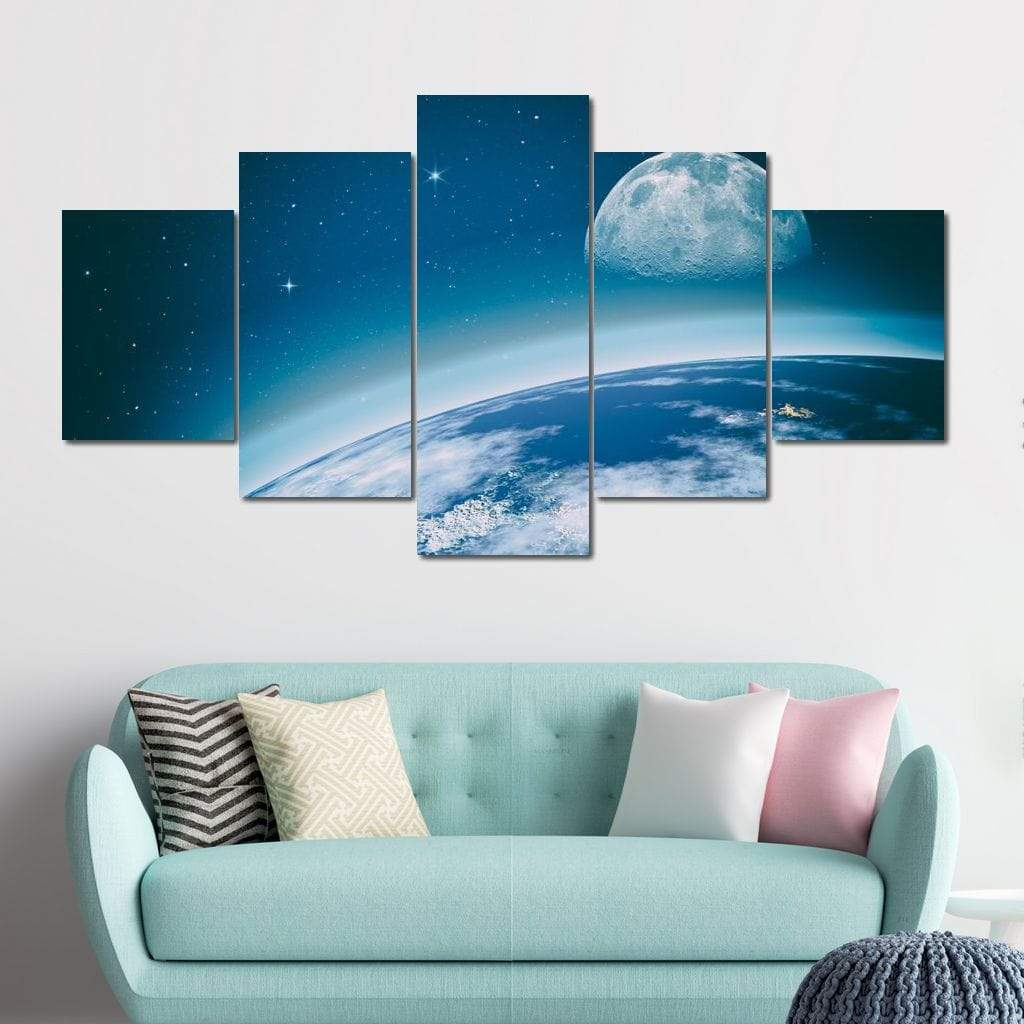 Miracle of Earth Multi Panel Canvas Wall Art - NicheCanvas