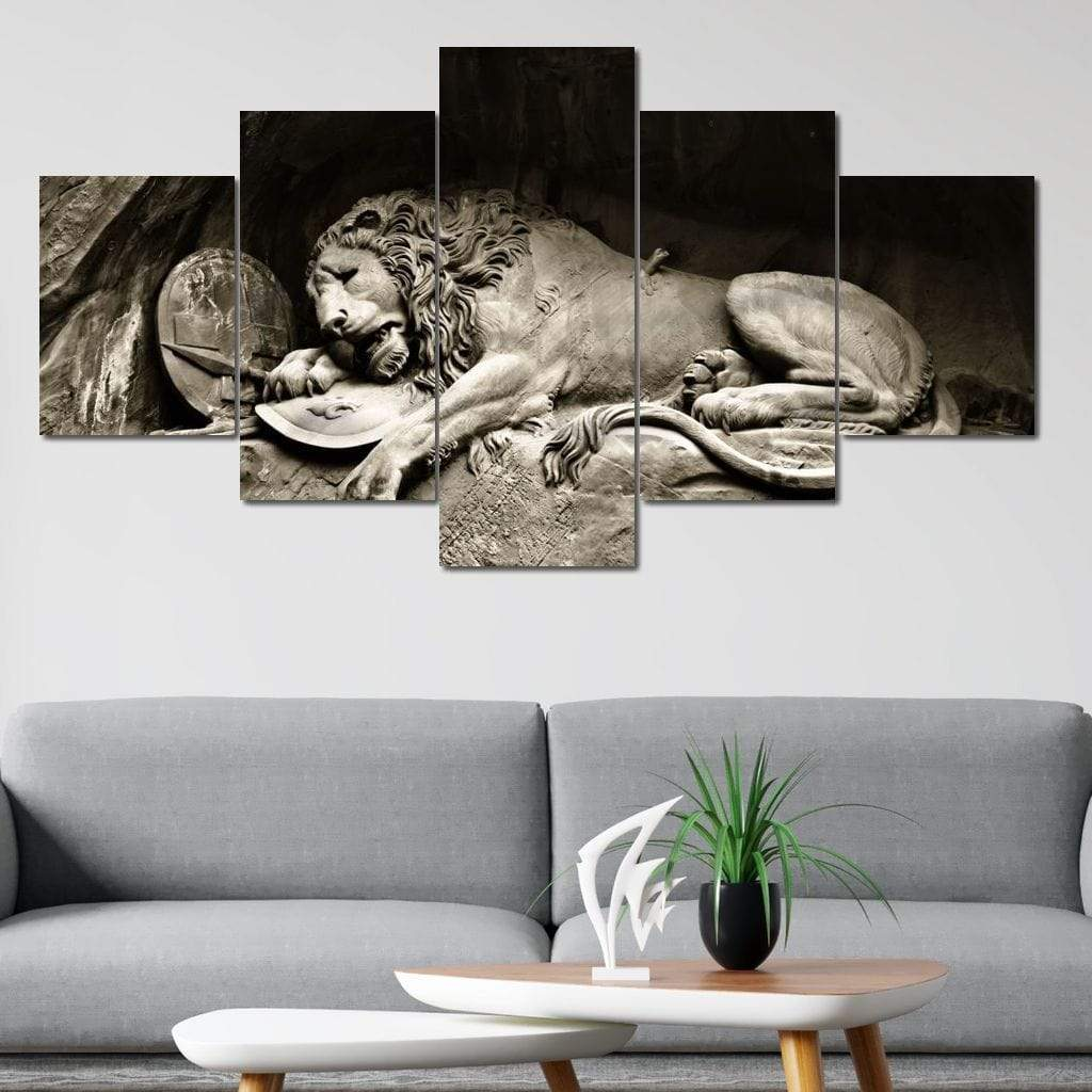 The Lion of Lucerne - NicheCanvas