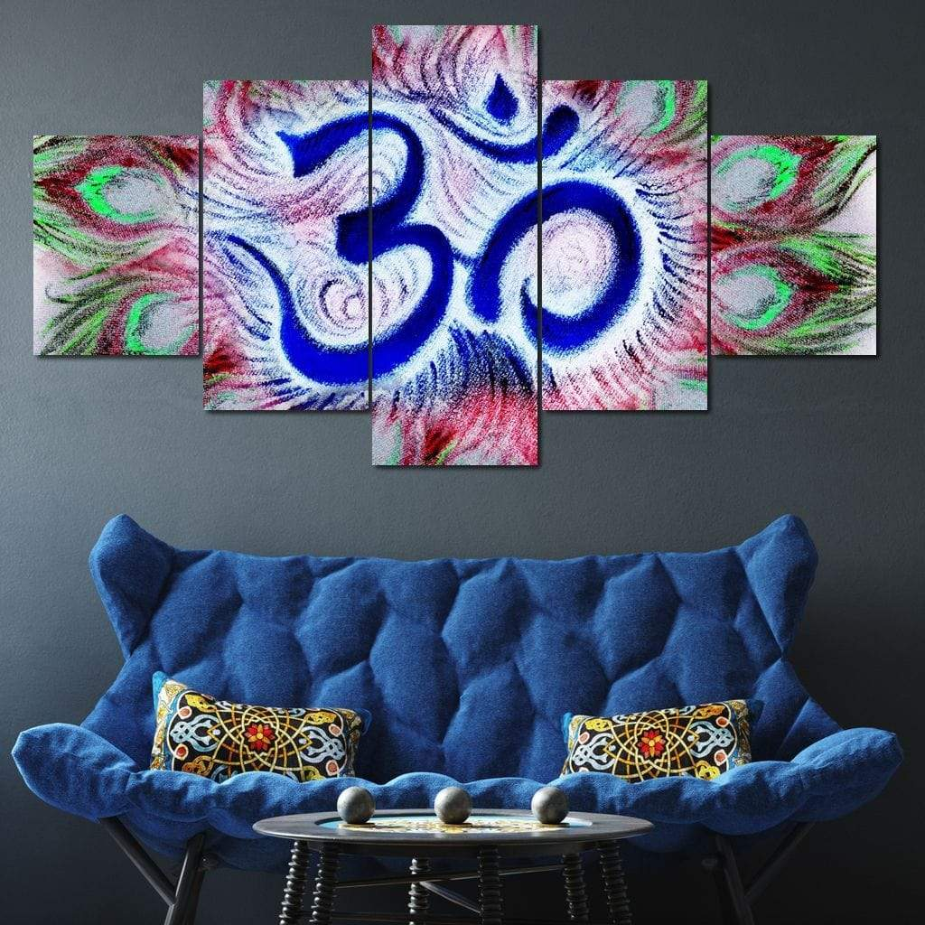 Sacred Om Multi Panel Canvas Wall Art - NicheCanvas