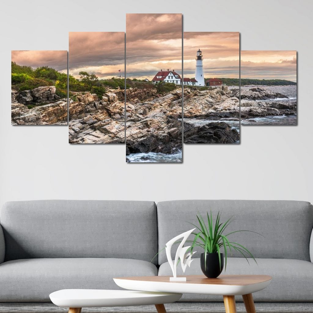 Cape Elizabeth Multi Panel Canvas Wall Art - NicheCanvas