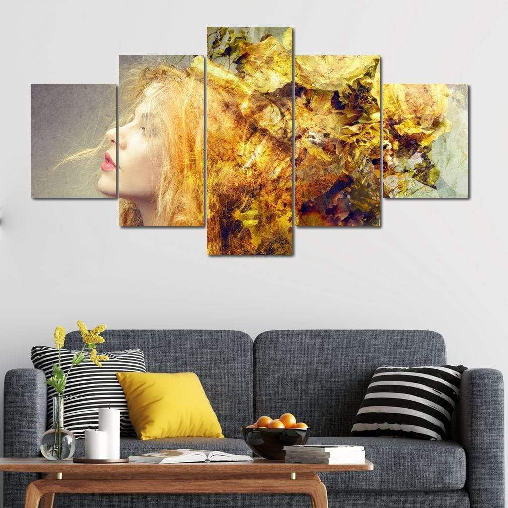 Blooming Mind Multi Panel Canvas Wall Art - NicheCanvas