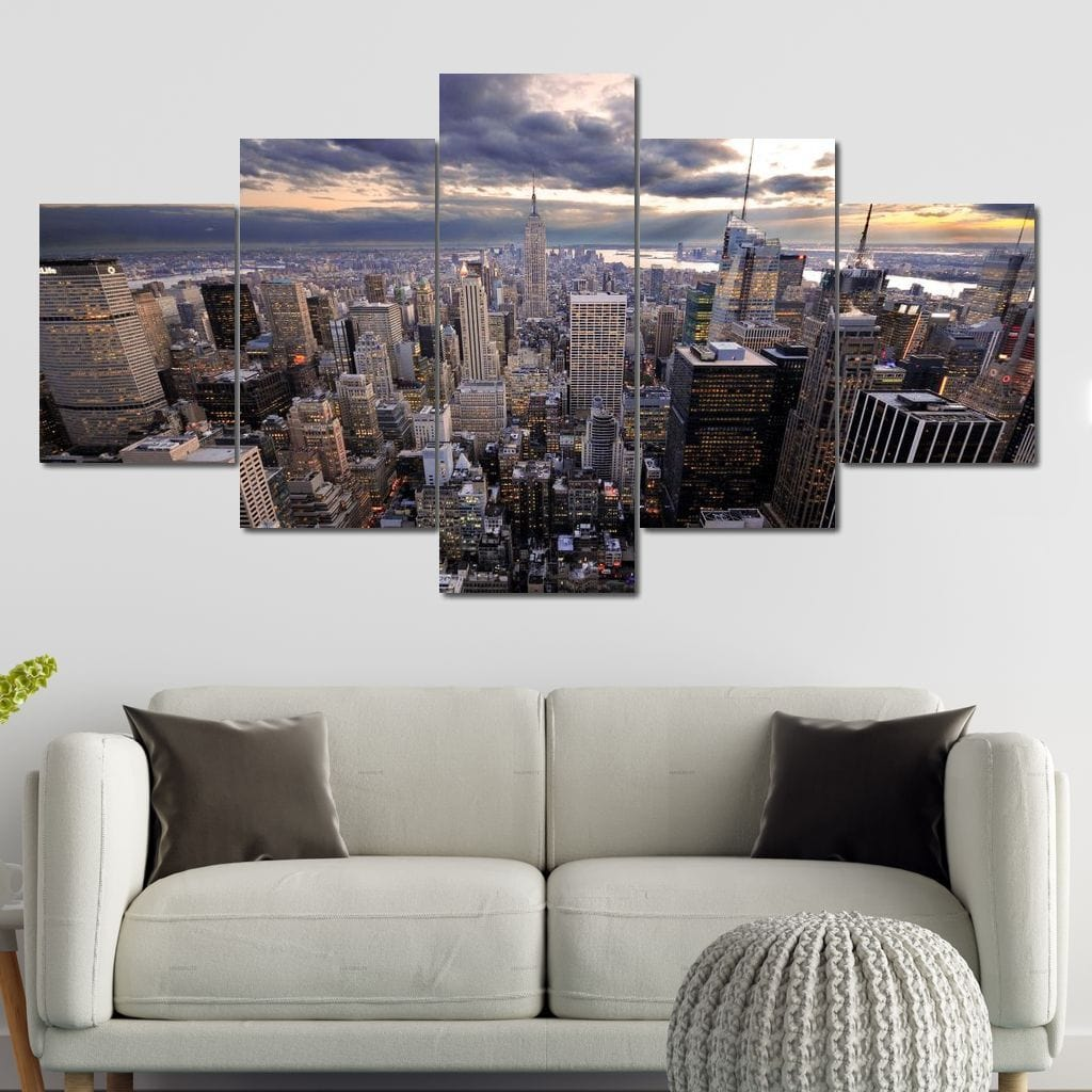 New York City Penthouse Multi Panel Canvas Wall Art - NicheCanvas