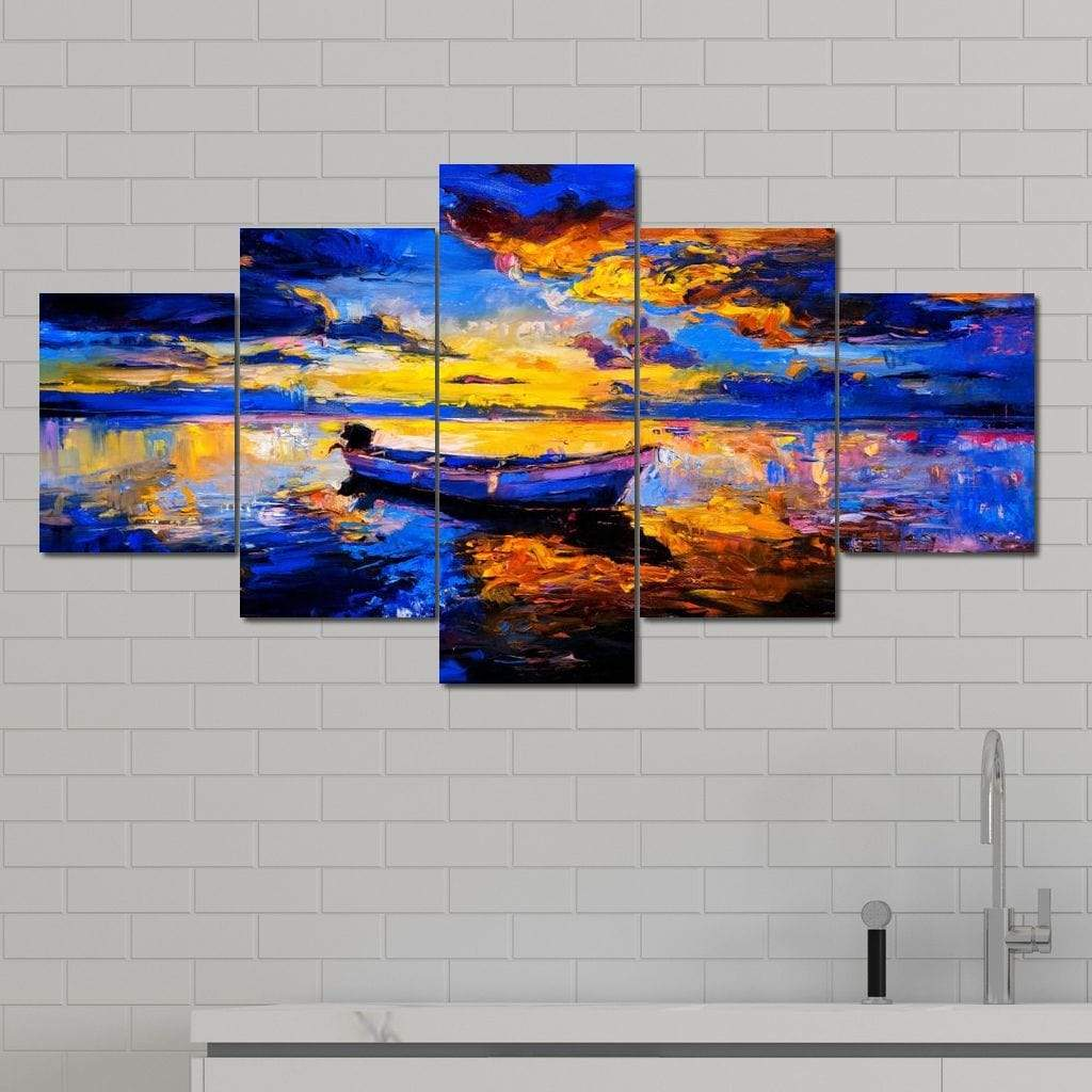 A Fish Too Far Multi Panel Canvas Wall Art - NicheCanvas