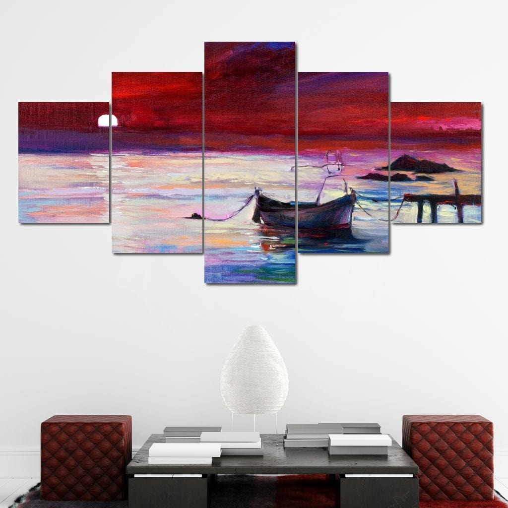 Done Fishing Multi Panel Canvas Wall Art - NicheCanvas