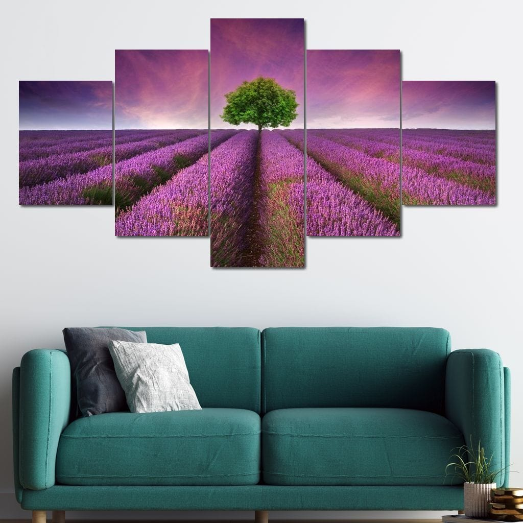 Lavender Dreams Multi Panel Canvas Wall Art - NicheCanvas