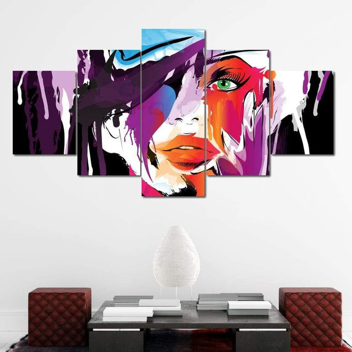 Green Eyed Detective Multi Panel Canvas Wall Art - NicheCanvas