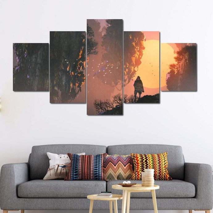 Floating Lands Multi Panel Canvas Wall Art - NicheCanvas