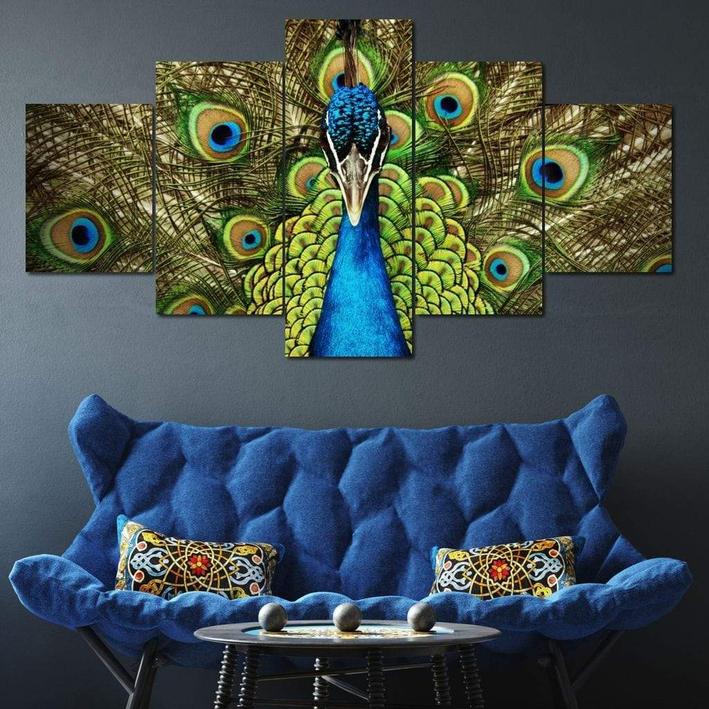 Champion Peacock Multi Panel Canvas Wall Art - NicheCanvas