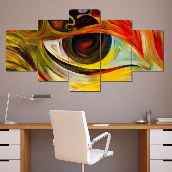 Abstract Eye Multi Panel Canvas Wall Art - NicheCanvas