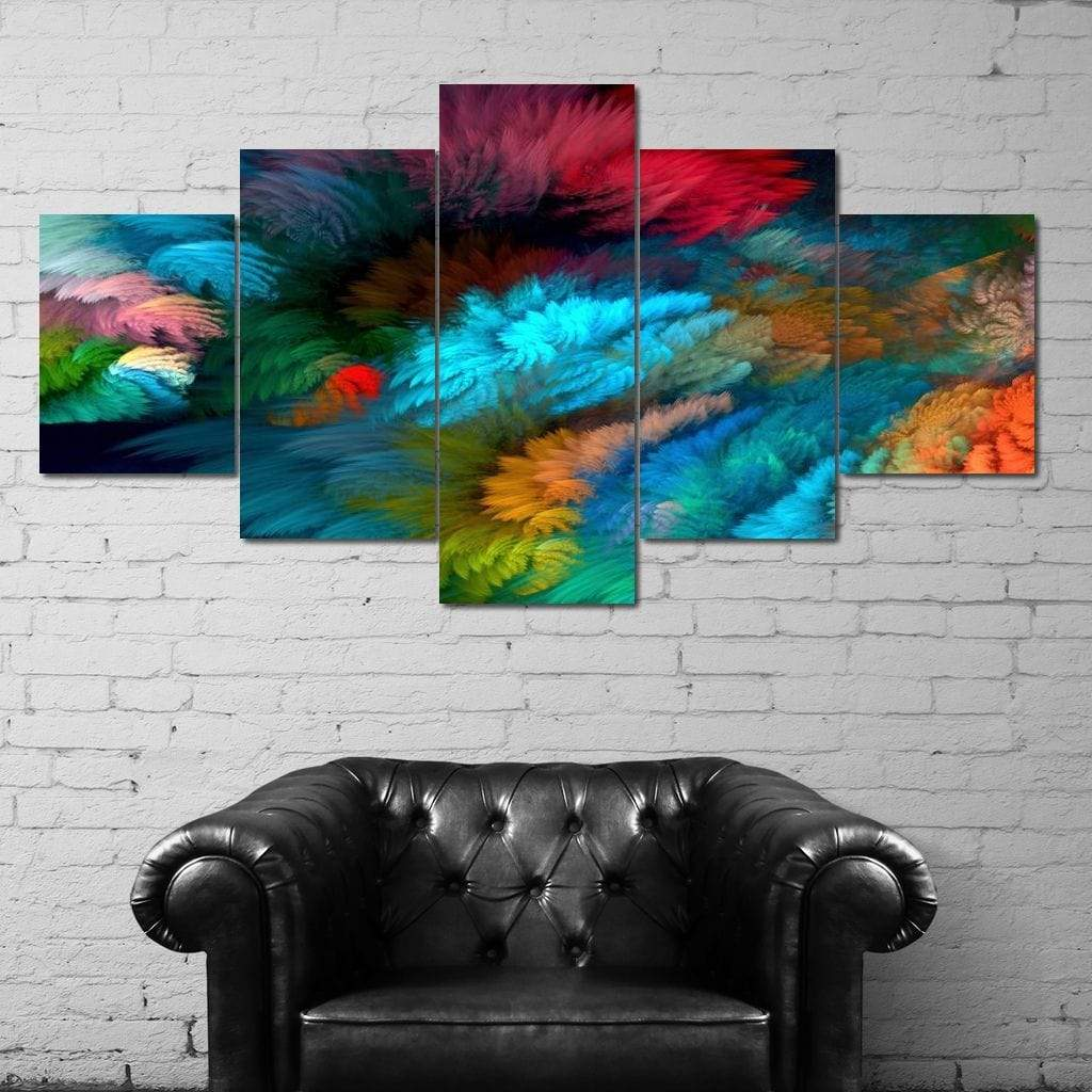 Colorful Display Multi Panel Canvas Wall Art - NicheCanvas