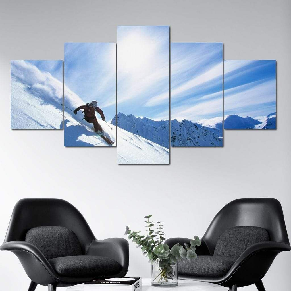 Ski Heaven Multi Panel Canvas Wall Art - NicheCanvas