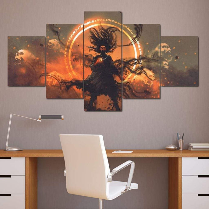 The Necromancer Multi Panel Canvas Wall Art - NicheCanvas