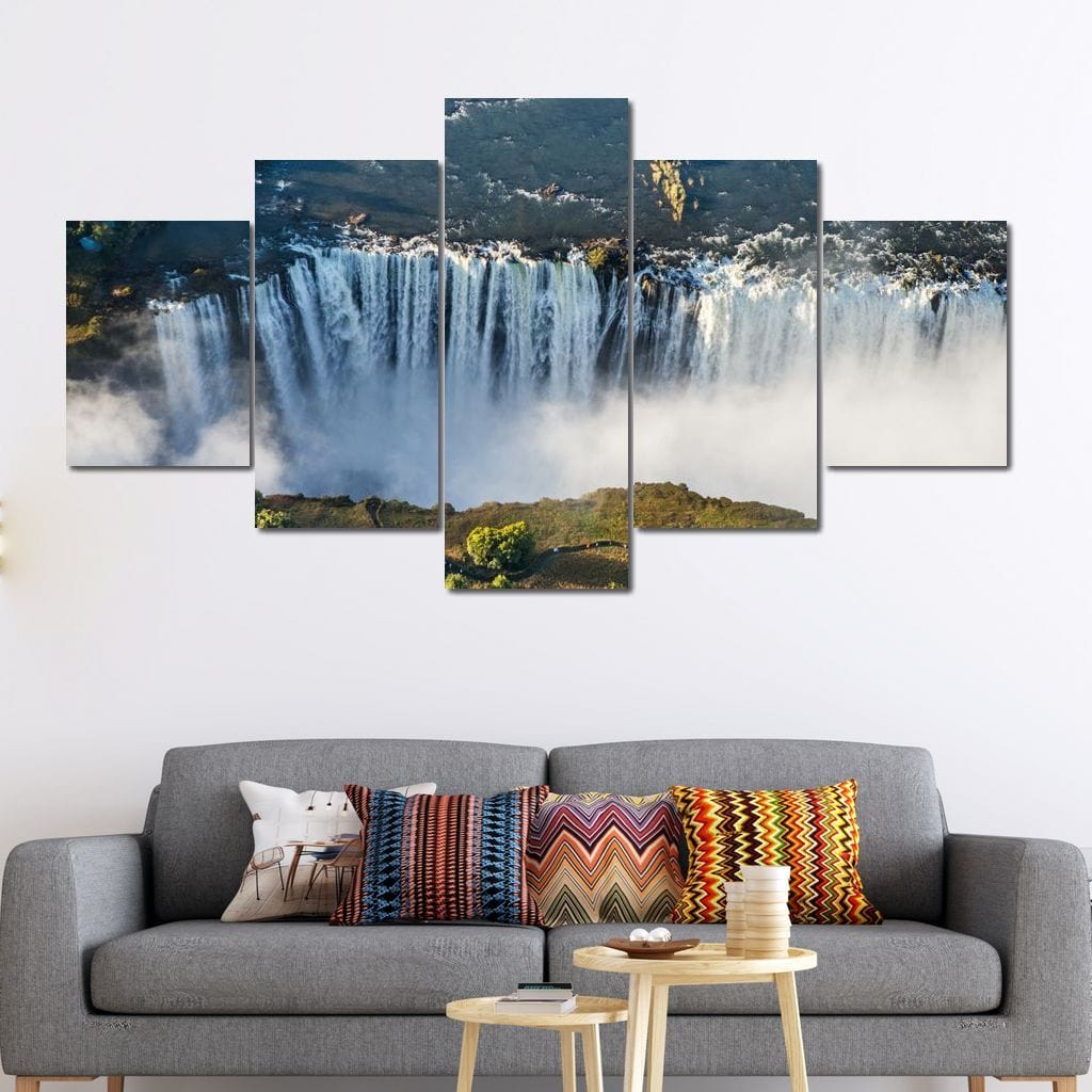 Victoria Falls Multi Panel Canvas Wall Art - NicheCanvas