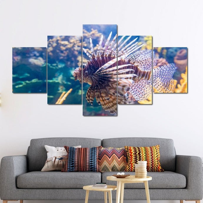 Lionfish Multi Panel Canvas Wall Art - NicheCanvas