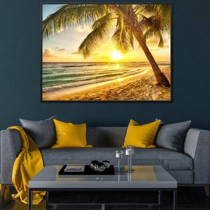 Barbados Beach Large Floating Frame