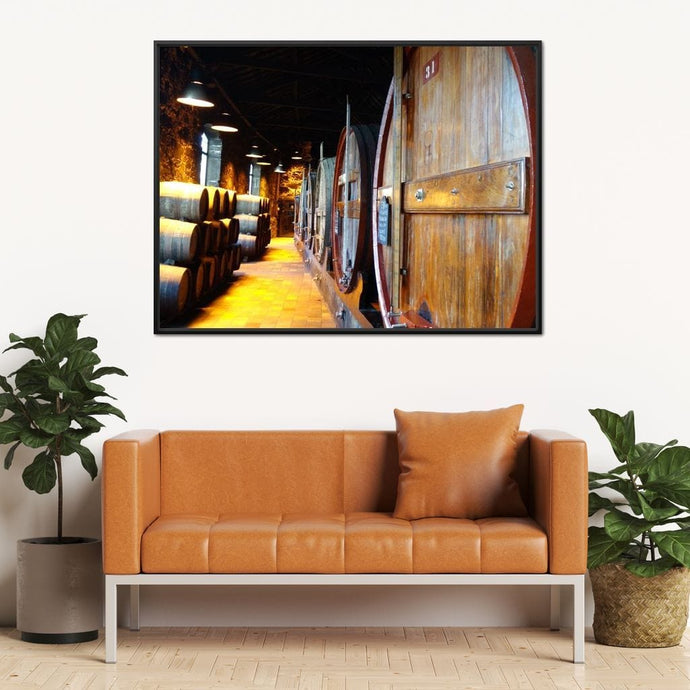 Burmester's Cellars - Corinne Gravel Multi Panel Canvas Wall Art - NicheCanvas